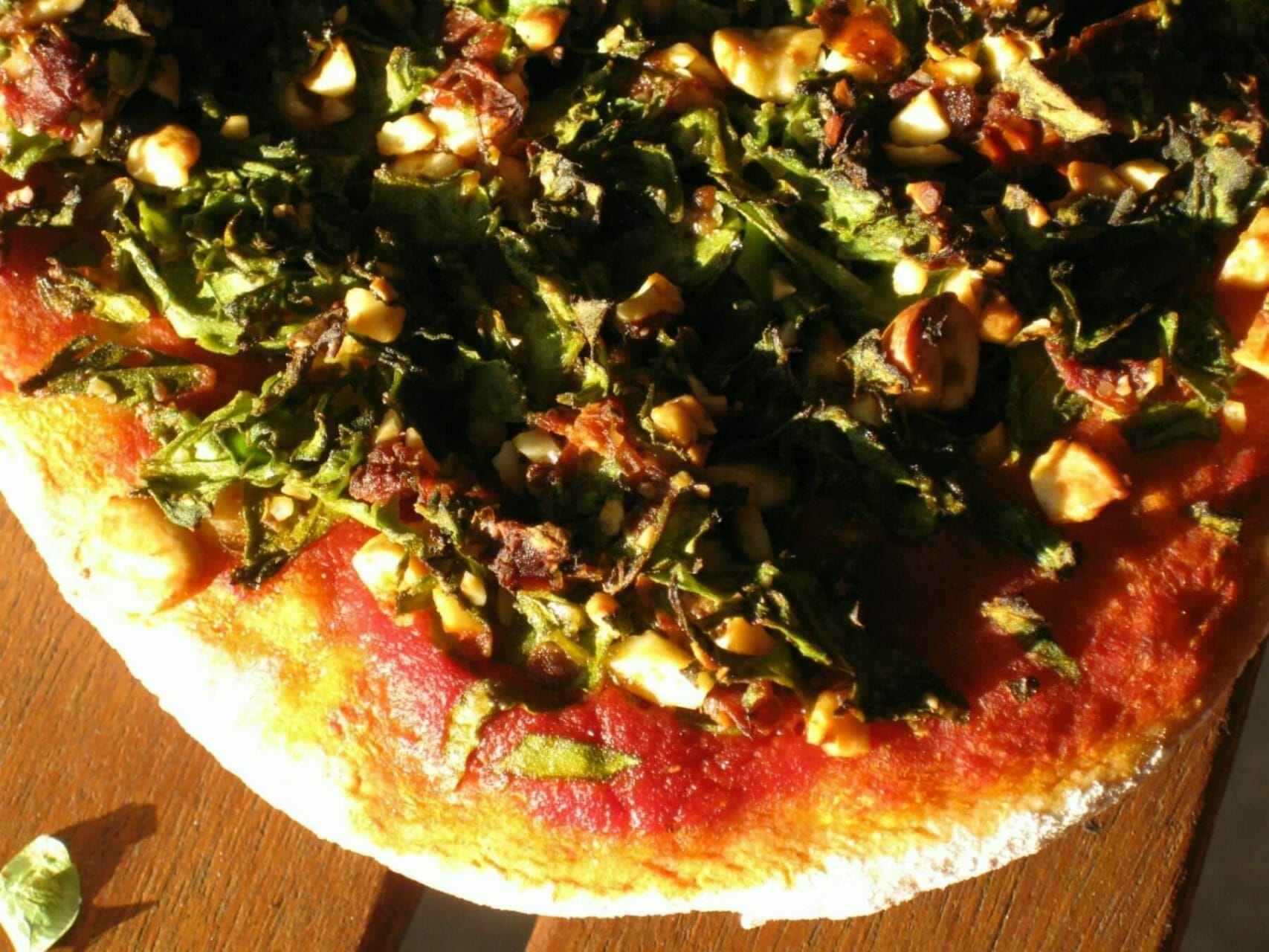 Vegane Pizza Ecke